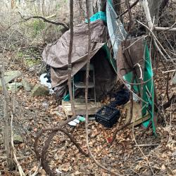 Picture of a homeless camp