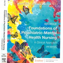 Cover of Foundations of Psychiatric-Mental Health Nursing textbook